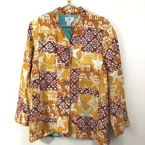 Sandy Starkman Egyptian Boho Silk Jacket Small